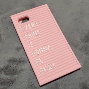"""""""Everything is gonna be okay"""" silicone iphone case"""